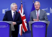 UK's Brexit minister Davis calls on EU to move talks forward