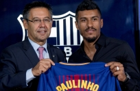 Reuters Video: New signing Paulinho on show for Barca