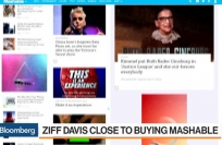Bloomberg Video: Ziff Davis said to be close to buying Mashable