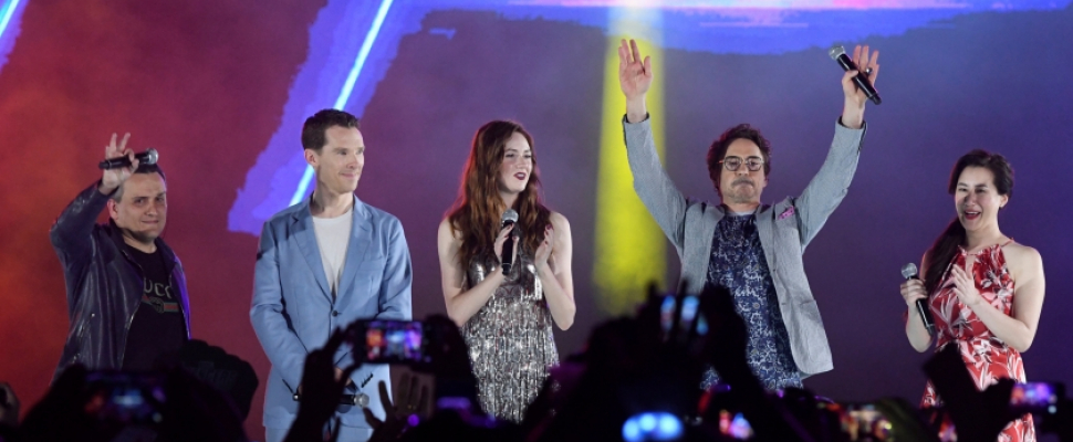 The 'Avengers: Infinity War' stars in Singapore