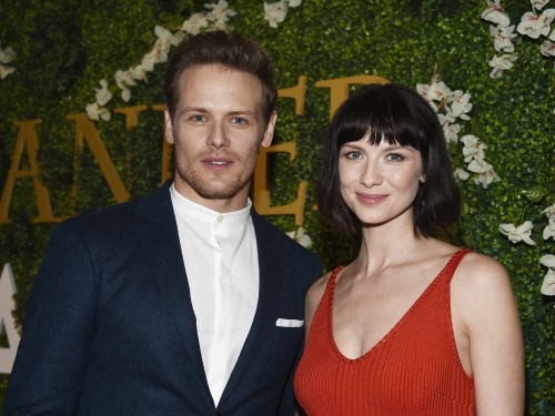 Actors Sam Heughan and Caitriona Balfe arrive at Starz's 'Outlander' FYC Special Screening and Panel at the Linwood Dunn Theater at the Pickford Center for Motion Study in Hollywood, California, March 19, 2018.  — AFP pic