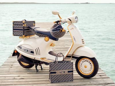 Vespa teams up with the French couture house to launch the new Vespa 946 Christian Dior scooter