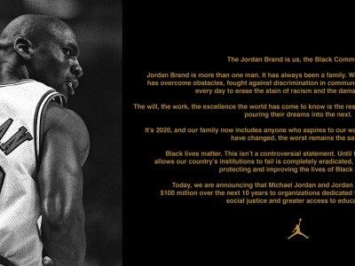 促消除种族主义!麦可乔丹霸气捐1亿美元助美国黑人