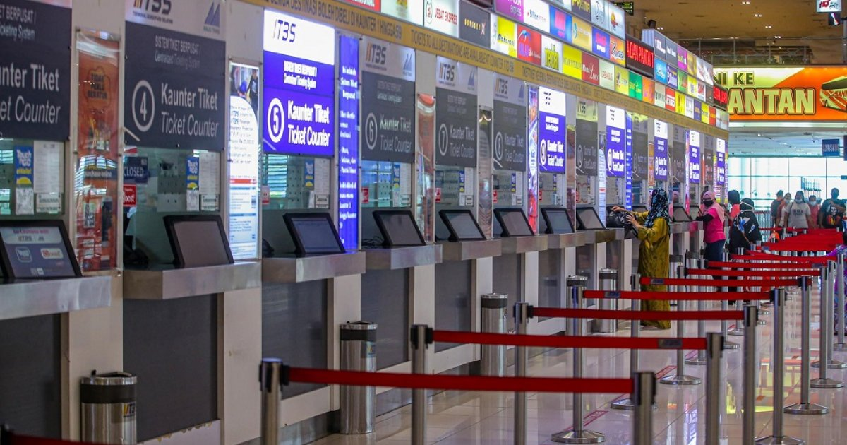 Aidilfitri: Less than 50pc bus tickets sold at Terminal Bersepadu Selatan, only 1pc sold for KTM Intercity