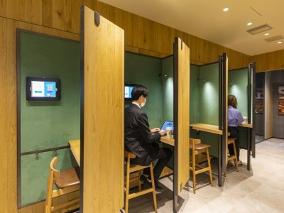 New Starbucks in Tokyo features dedicated space for remote workers