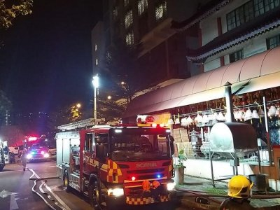 Fire breaks out at Buddhist temple in Singapore, resident from nearby elderly home taken to hospital