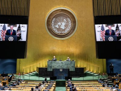 Trump says UN must 'hold China accountable' for Covid-19