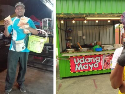 After two years of walking to sell keropok, now Kedah man owns a keropok stall