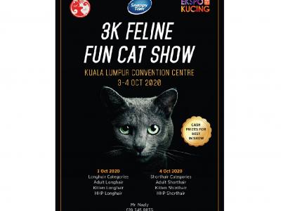 铲屎官炫耀的机会来了!猫界选美盛会10月KLCC展开