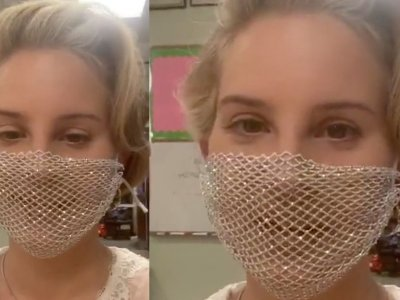 American singer Lana Del Rey told off online for wearing mesh face mask at California meet-and-greet