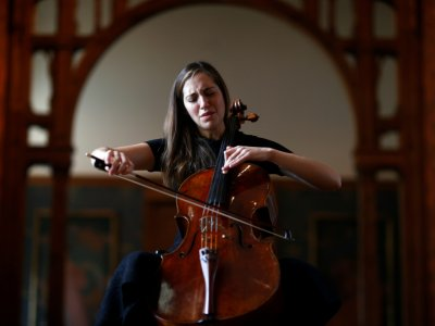 Cellist turns locked-down museums into backdrop for healing art