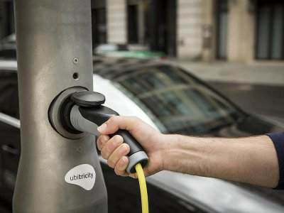 When a street light is also an electric car charging station