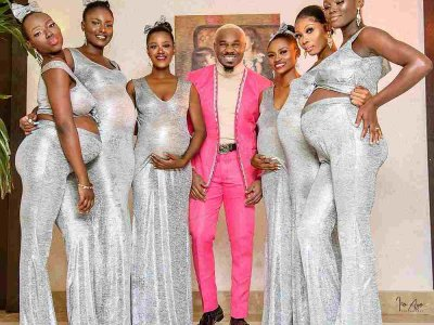 Baby daddy: Nigerian playboy attends wedding with six women he impregnated