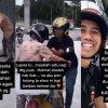 年轻骑士帮老妪启动摩托 获网民盛赞!