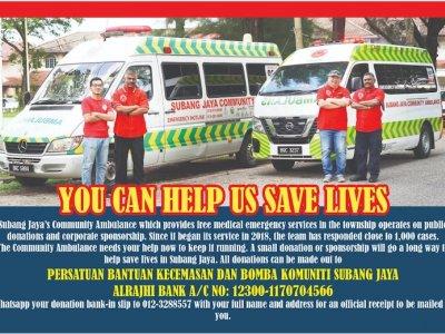 资金拮据 梳邦再也社区救护车队仅能撑半年!