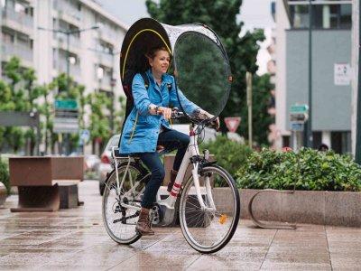 雨天骑脚踏车怕淋湿?Rainjoy的Bub-up为您解忧!