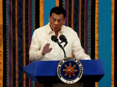Philippines' Duterte reappears in public, dismisses rumours of health problems
