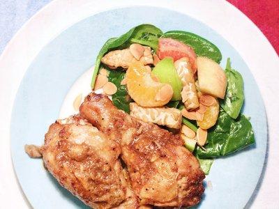 Make 'abundance chicken' and 'auspicious salad' with tangy mandarin oranges