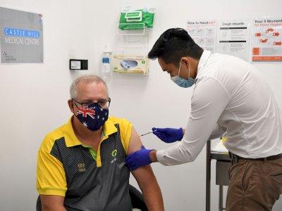 澳洲提早启动疫苗接种计划       总理莫里森带头证安全