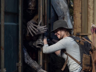 'The Walking Dead' showrunner Angela Kang on the 'strangeness' of filming a zombie show during a pandemic (VIDEO)