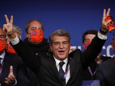 Laporta elected FC Barcelona's president for second time