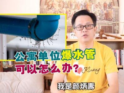 公寓单位爆水管如何上诉?颜炳寿传授3招处理方式