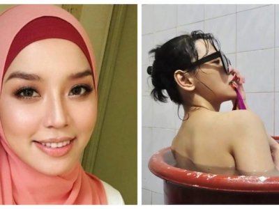 Malaysian actress and singer Nonny Nadirah says 'sorry for everything' after provocative bathtub photo