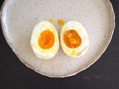 Soft, creamy salted eggs from Batu Arang's Happy Duck Free Range Eggs