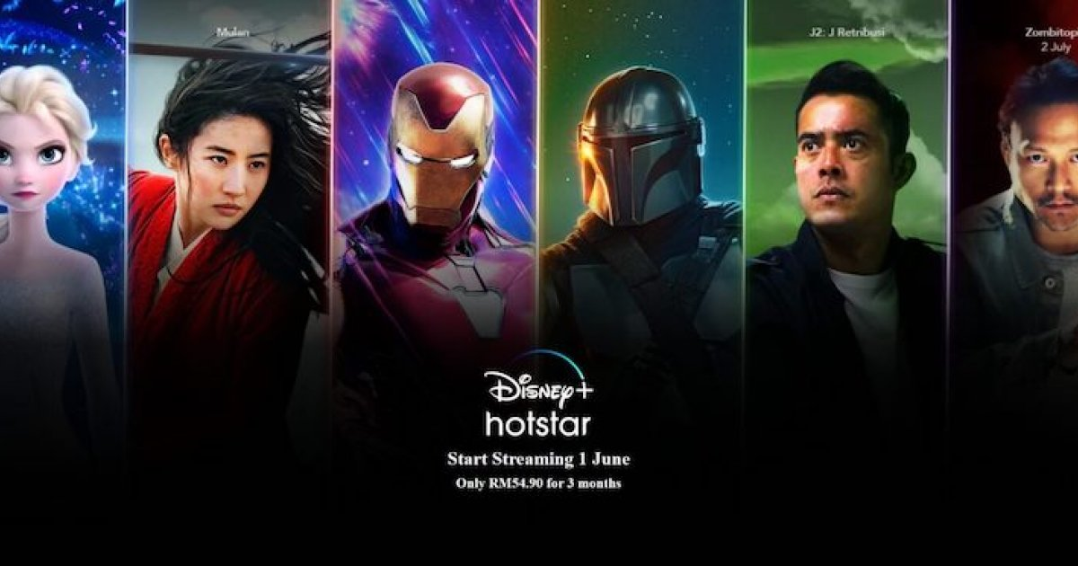 Disney+ Hotstar comes to Malaysia on June 1, RM54.90 for three months