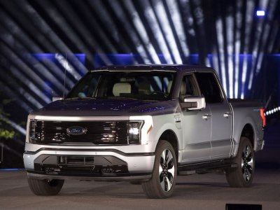 Ford unveils its first all-electric pickup truck