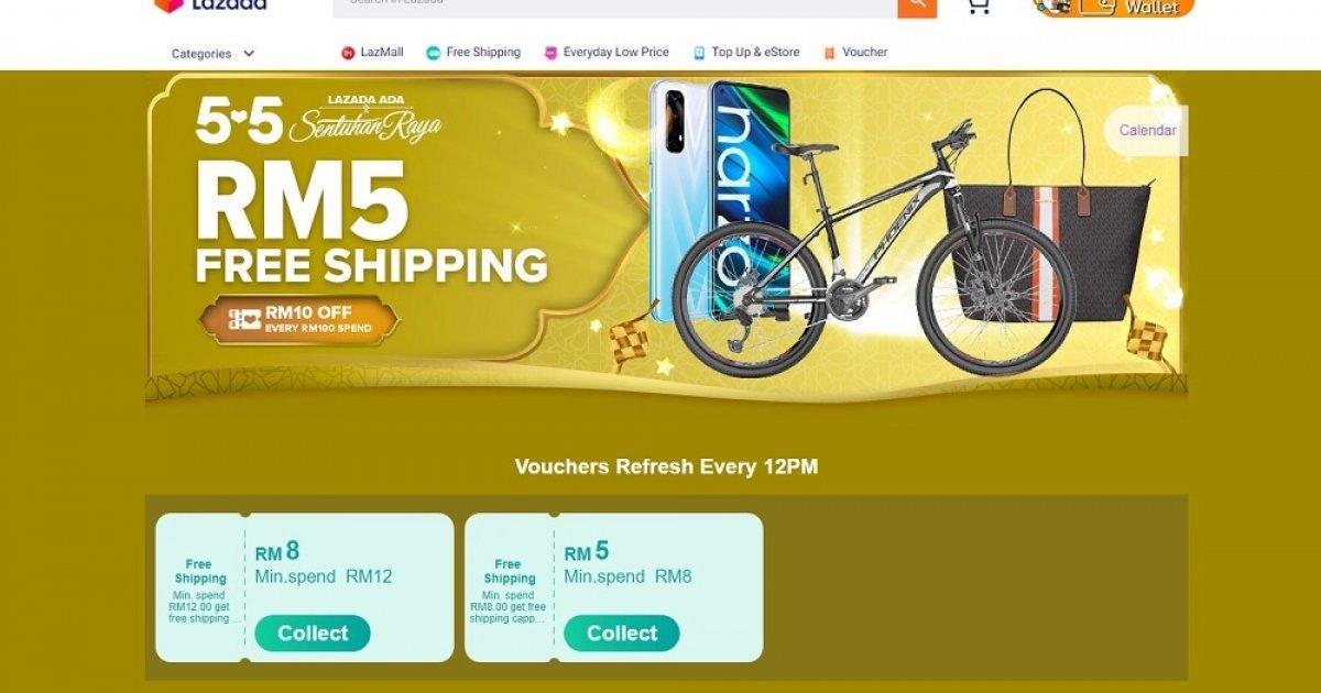Lazada offers great deals through the 'Ada Sentuhan Raya' 5.5 Sale