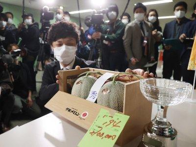 Japan premium melons go for US$24,800 after virus slump