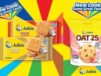 Julie's继续注入新活力 OAT 25与苏打饼系列推出全新包装