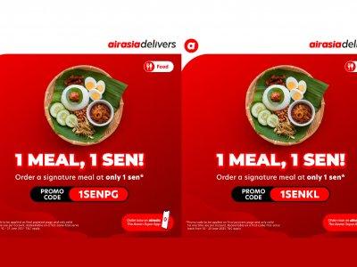 仅限巴生谷槟城!airasia food推1仙特餐限时促销