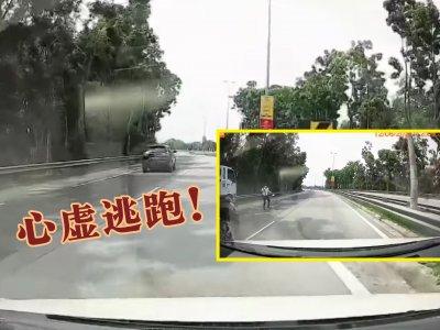 驾照逾期偷驾哥哥车  青年怕被责备硬闯路障脱逃!