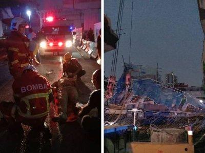 NKVE施工路段坍塌!消拯局:2孟加拉工人受轻伤
