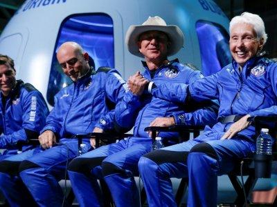 World's richest man Jeff Bezos blasts into space