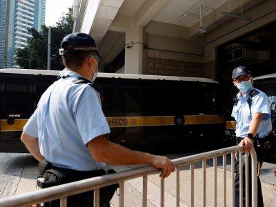 """香港首宗国安法案         骑摩哆撞警男子""""煽动分裂国家""""罪成"""