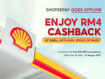 与ShopeePay合作!即日起到Shell消费RM30可获RM4回扣