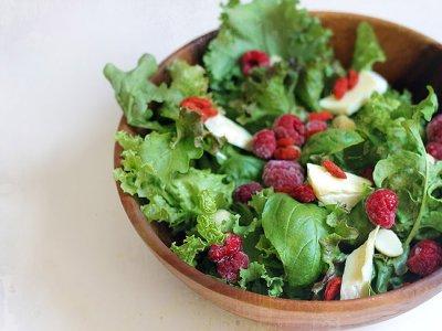 When raspberries met Brie: A simple summer salad