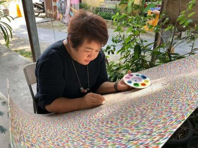 So what do you do when you meet an online scammer? Penang artist Queen Lee turned it into art
