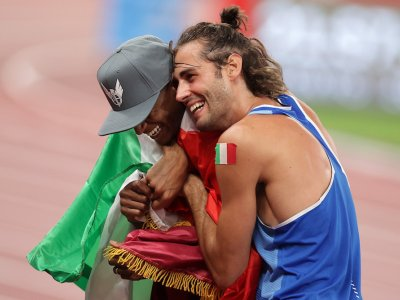 'Can we have two golds?': Barshim, Tamberi share high jump win
