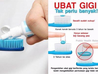 牙膏用越多刷得越干净?大马公共卫生:一小撮就够了!