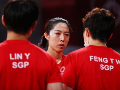 Singapore to face China in Olympic table tennis women's team quarters