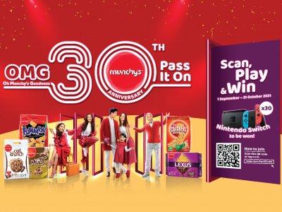 想赢Nintendo Switch吗?快参与 Munchy's欢庆30周年竞赛!