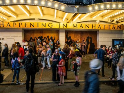 Broadway raises curtain again on big musicals, and casts serenade the city