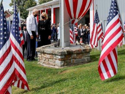 911恐袭20周年 拜登到三处事发地悼念遇难者