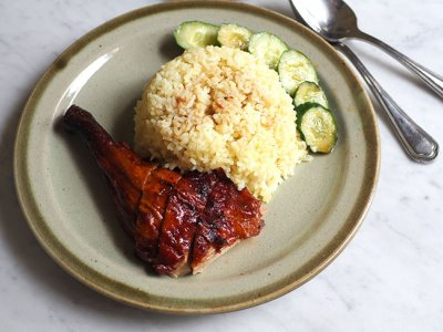 Phase Two takeaway: For a simple, satisfying lunch, get the charcoal roasted duck rice from PJ SS2's De Champion Duck