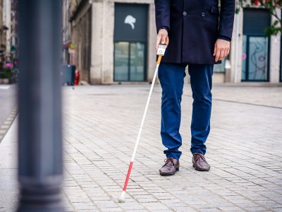 This connected white cane is a smart solution for the visually impaired