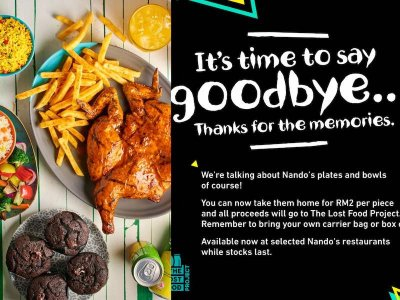 No, Nando's Malaysia is not closing down, they're just preparing for a makeover by selling off their crockery